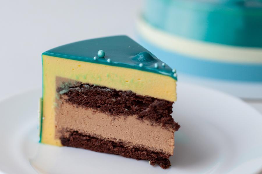 """Торт """"Манго-маракуйя-молочный шоколад"""""""